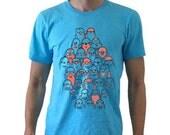 Mens Bird Impostor Tshirt - Aqua American Apparel Shirt - Men's Large