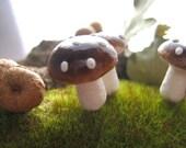 Large Spun Cotton Mushrooms - One Dozen