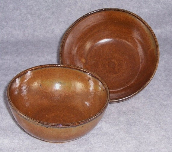 Ed Oblad  Custom Order  Bowls  Brown Wheel Thrown  Stoneware Ceramics   Pottery