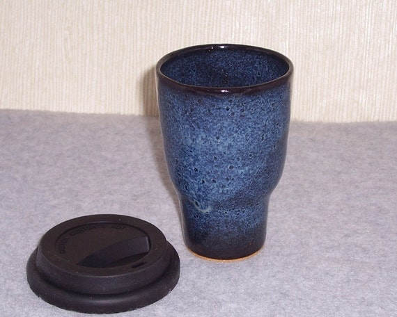 Ceramic Cup With Lid Ceramic Lidded Car Cup Blue