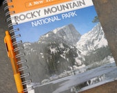 Rocky Mountain National Park - Recycled Handmade Journal with recycled paper