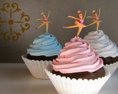 Fake Cupcake King Size Ballerina Chocolate Cupcake Your Choice of Blue, Pink and White Frosting Perfect Birthday Party Decor Can Be A Photo Holder, Business Card Holder Color of Ballerinas Tutu and Hair Can be Customized for You