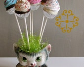 Fake Cupcake Lollipops for Cupcake Bouquet Set 6 Mini Cupcakes Pictured Great for Photography Sessions Sweet Display for Your Favorite Vase