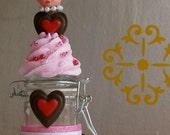 Cupcake Jar Collectable w/Vintage Doll Head A 12 Legs Original Concept/Design