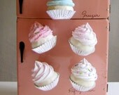 Fake Cupcake Magnets Sugar Plum Fairy Collection Your Choice of 2 Magnets Great for Fridge, Office, Bakery, Little Girls Room, Etc