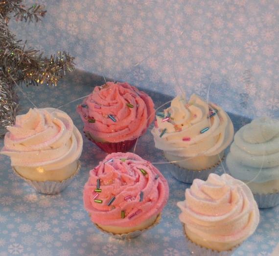 Sugar Plum Fairy Mini Cupcake Ornaments with Sprinkles Set of 6 TOO ...