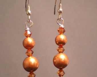 Shades of Copper Earrings