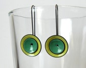 yellow and mint mod earrings