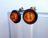 orange gem (LEGO) earrings