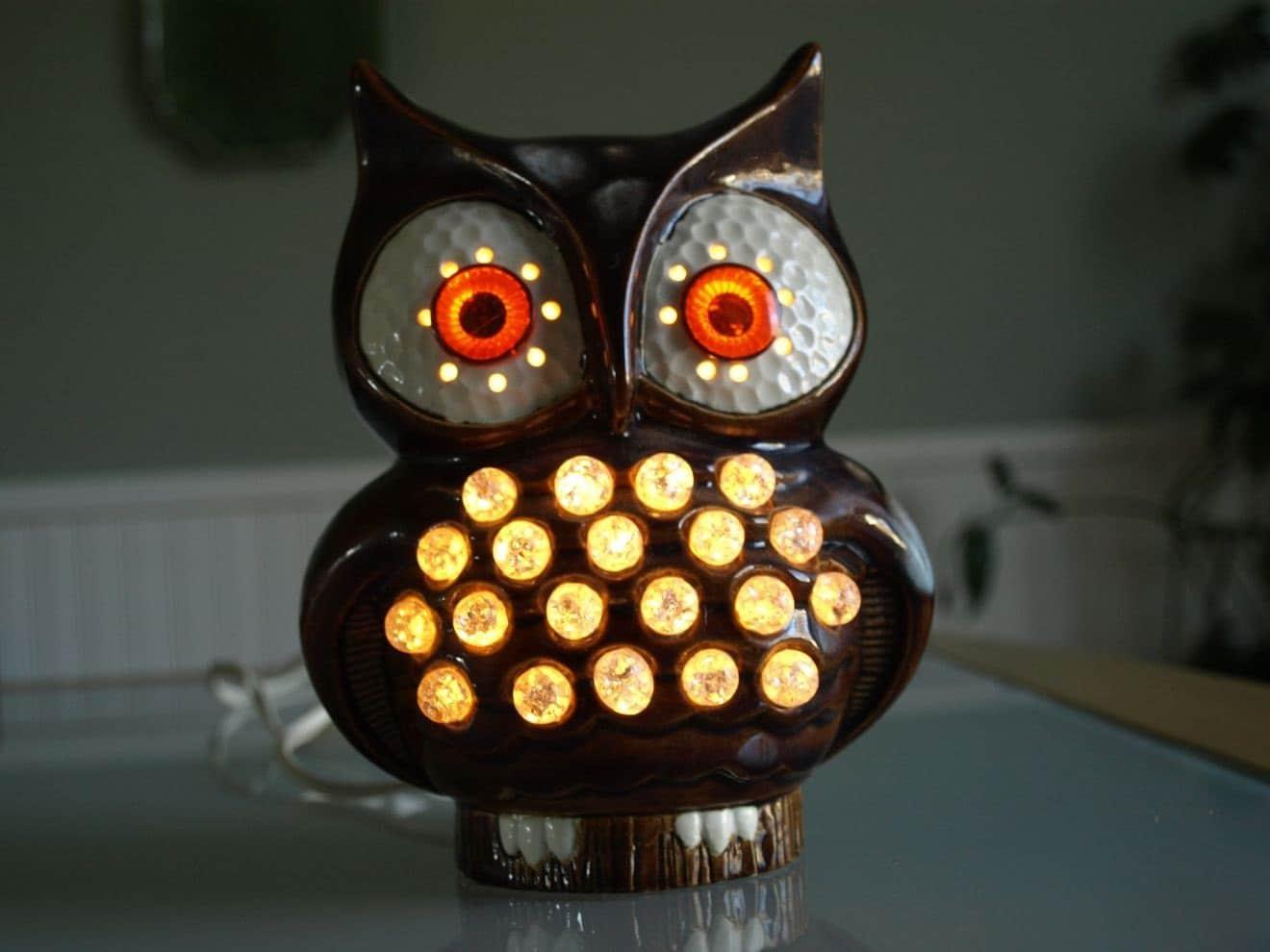 Vintage Owl Lamp