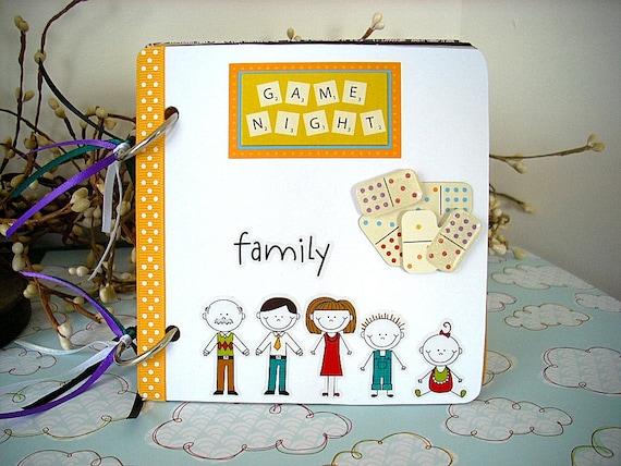 Mini Scrapbook Album Family Game Night