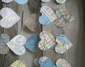 I Love LA - Recycled Vintage Map Garland- Limited Edition