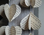 3D Paper Mobile, Harry Potter, Hearts Mobile, Paper Decoration, Kids Decor, Vintage Book, Party Decoration, Paper Mobile, Photo Prop, Hearts
