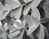 Vintage Book Mobile - Wuthering Heights - Jane Eyre - 3D Paper Mobile - Wedding Decor - Paper Decoration -