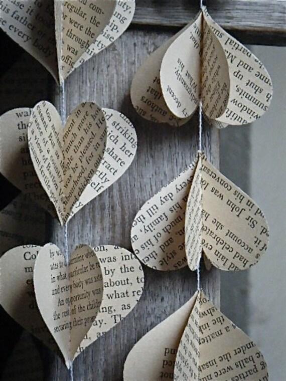 Jane Austen -  3D Paper Mobile - Vintage Book - Wedding Decor - Party Decoration - Vintage Jane Austen -  Pride and Prejudice