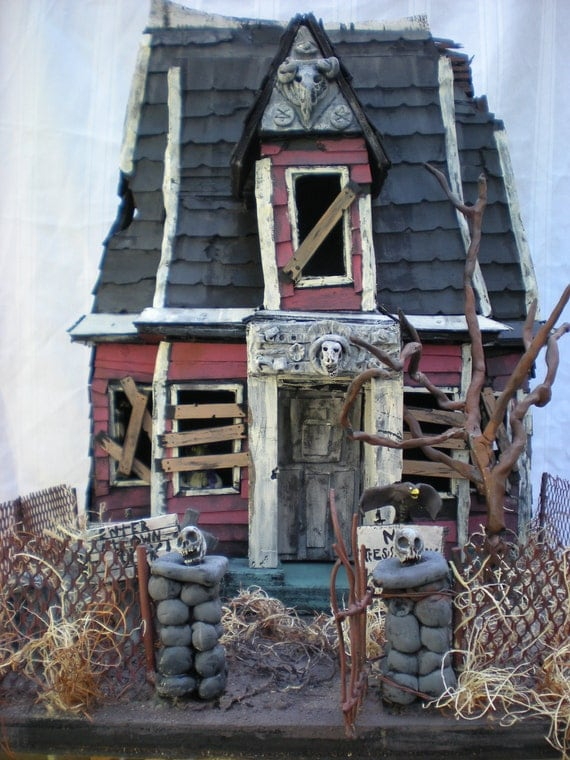 The haunted house of the baboon lodge. on sale for a limited time. super low price. The Haunted Construction co.