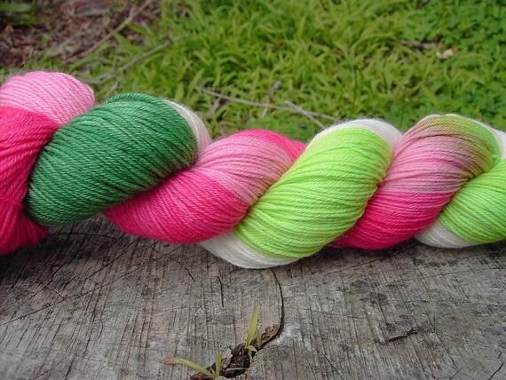 Strawberry Fields - Organic Merino Sock Yarn - 100g