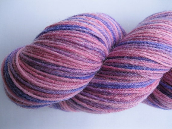 REDUCED TO CLEAR - Grape Jam - Hand Dyed Sock Yarn in pink, purple, lilac (fingering weight, superwash wool & polyamide) - 460 yards