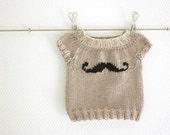 Mini Moustache Baby sweater PDF Pattern
