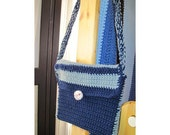 Lil' Messanger Bag - Navy with Baseball
