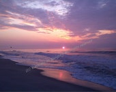 Handmade Photo Note Card - Ocean, Beach, Seashore, Sunrise, Long Branch, NJ