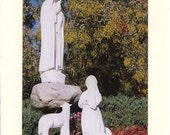 Blessed Mother, Child, Lamb - Note Card
