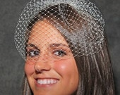 Birdcage Veil Blusher Wedding Veil Bridal Veil Short 9 inch White Ivory Black and other colors French Veiling