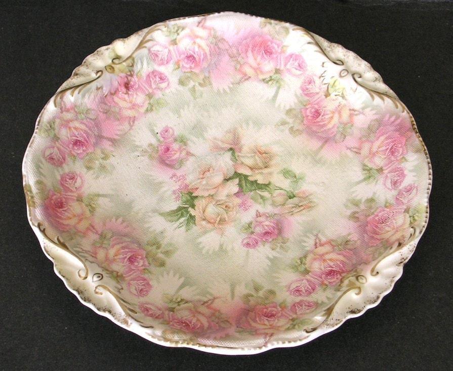 royal bayreuth rose tapestry bavarian porcelain plate. Black Bedroom Furniture Sets. Home Design Ideas