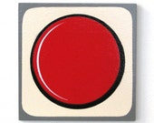 NES Game Pad Button Coaster - Video Game Coaster by Arcade Art
