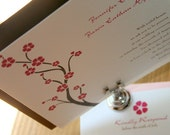 Cherry Blossom Wedding Invitation  - Deposit to get started