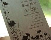 Wedding Invitation Poppy Poppies - Deposit to get started