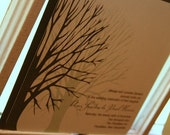 Wedding Invitation Bare Winter Tree  - Deposit to get started