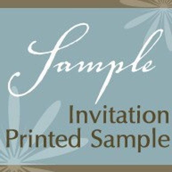Everlasting Invites Sample Invitation