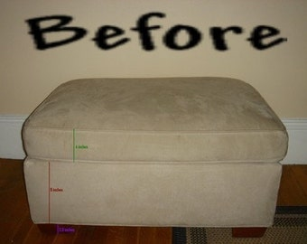 Slip Covers Custom Ottoman Replace or Remake