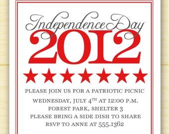 4th of July Invitation (set of 10)