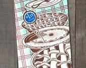 First Place Pie - Letterpress Card
