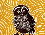 Owl Letterpress Cards- box set of ten