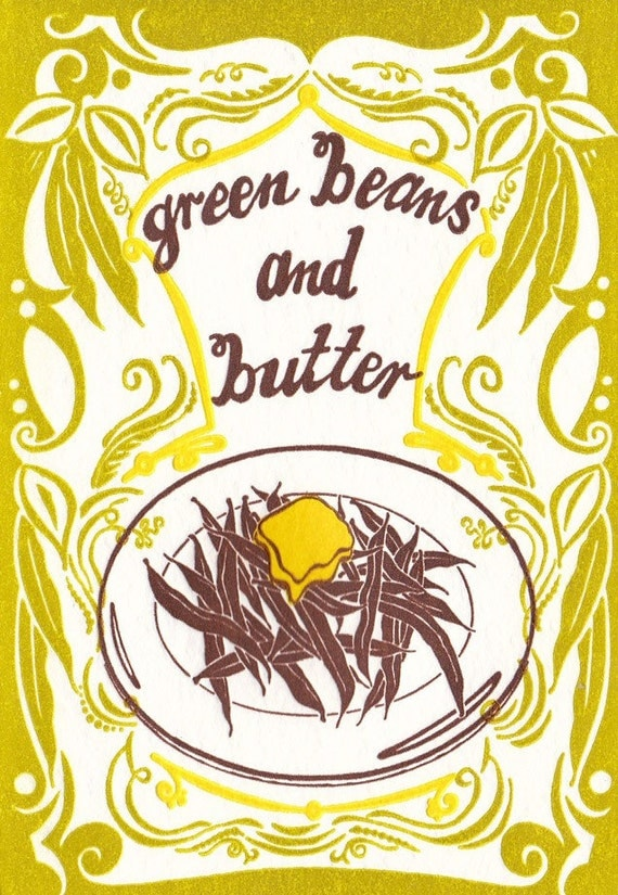 Green Beans and Butter - Letterpress Card