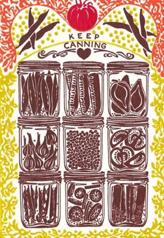 Keep Canning - Letterpress Card
