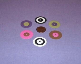 Small Retro Circles - 6 per set
