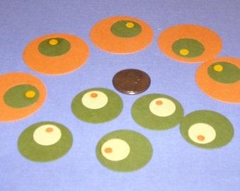 Big Retro Circles - 10 per set
