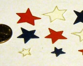 R,W,B Stars - 9 piece set