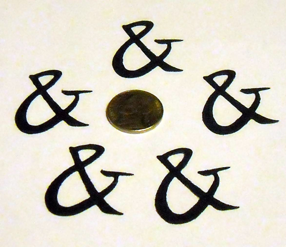 Ampersand 5 to a pack from scrapingmom1221 on etsy studio for Ampersand decoration etsy