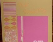 Clearance - Our Sweetie Girl Themed 12x12 2-page Scrapbook Layout
