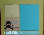 Clearance - Pirate Themed 12x12 2 page Scrapbook Layout