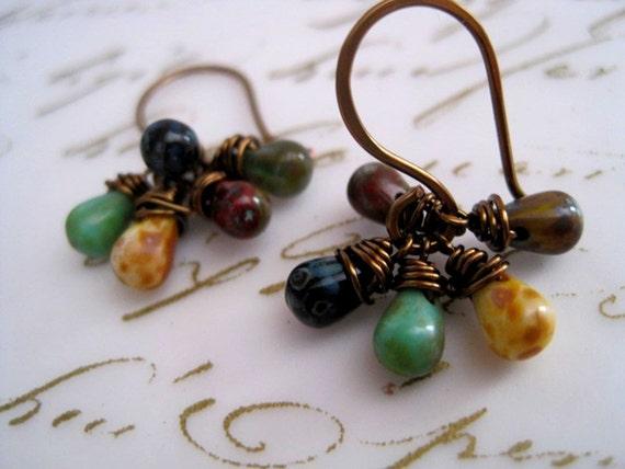 Earthy Cluster Earrings