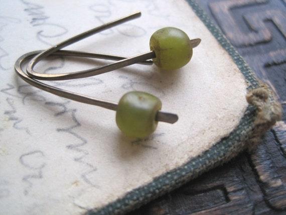 Olive Stems -Hypoallergenic Earrings