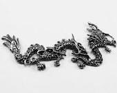 long chinese dragon  pendant  Australian Pewter