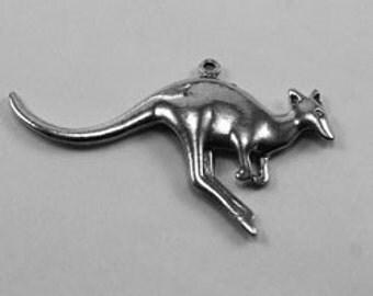 large Kangaroo pendant 1 bail Australian Pewter AF177