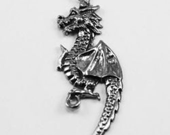 Dragon pendant  2 bails Australian Pewter DR42